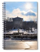 Sunrise Over The Art Museum In Winter Spiral Notebook