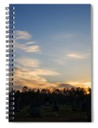 Sunrise Over The Cemetary Spiral Notebook