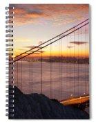 Sunrise Over The Golden Gate Bridge Spiral Notebook