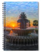 Sunrise Over The Pineapple Spiral Notebook
