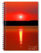 Sunrise Over Whidbey Island Spiral Notebook