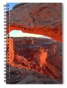 Sunrise Paint Spiral Notebook