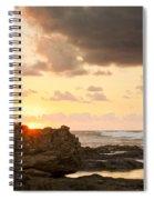 Sunrise Seagull On Rocks Spiral Notebook