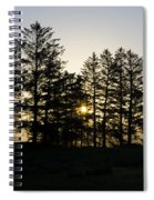 Sunrise Shines Through The Pines Spiral Notebook