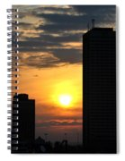 Sunrise Silhouette Buffalo Ny V2 Spiral Notebook