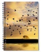 Birds Awaken At Sunrise Spiral Notebook