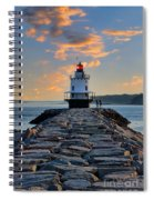 Sunrise Spring Point Ledge Spiral Notebook