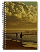 Sunrise Surf Fishing Spiral Notebook