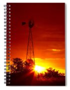 Sunrise Windmill 1 A Spiral Notebook