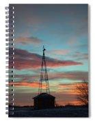 Sunrise Windmill Spiral Notebook