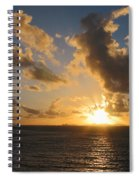Sunrise With Clouds St. Martin Spiral Notebook