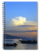 Sunrise With Outrigger Boats Spiral Notebook