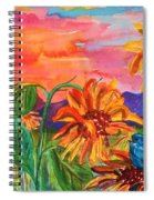 Suns Last Rays Spiral Notebook