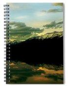 Sunset 1 Rainy Lake Spiral Notebook