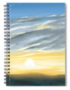 Sunset Above The Hill Spiral Notebook
