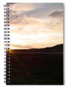 Sunset Across I 90 Spiral Notebook