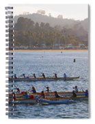 Sunset Activity At The Harbor Spiral Notebook