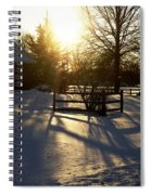 Sunset After The Snow Storm Spiral Notebook