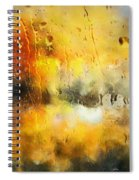 Sunset After The Storm Abstract Spiral Notebook
