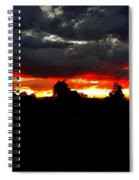 Sunset And Clouds Spiral Notebook