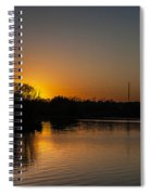 Sunset And Contrails Spiral Notebook