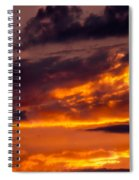 Sunset And Storm Clouds Spiral Notebook