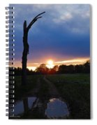 Sunset And The Dead Tree Spiral Notebook