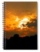 Sunset Angel Spiral Notebook
