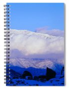Sunset At Alabama Hills And Inyo Spiral Notebook