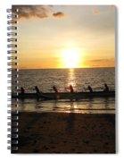 Sunset At Anaeho'omalu Bay Spiral Notebook