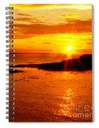 Sunset At Bic Spiral Notebook