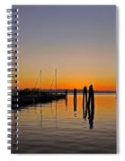 Sunset At Burlington Bay - Vermont Spiral Notebook