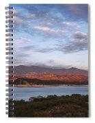 Sunset At Cachuma Lake Spiral Notebook