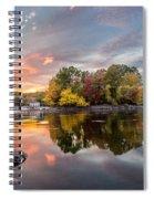 Sunset At Cambridge Reservoir Spiral Notebook