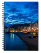 Sunset At Camogli In Liguria - Italy Spiral Notebook