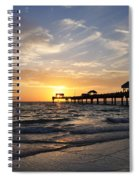 Sunset At Clearwater Spiral Notebook