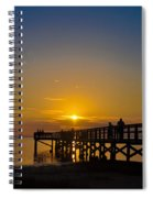 Sunset At Crystal Beach Pier Spiral Notebook