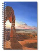 Sunset At Delicate Arch Utah Spiral Notebook