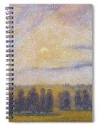 Sunset At Eragny, 1890 Spiral Notebook