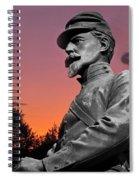 Sunset At Gettysburg  Spiral Notebook