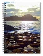sunset at Giant's Causeway Spiral Notebook