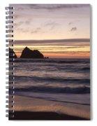 Sunset At Holywell Bay Spiral Notebook
