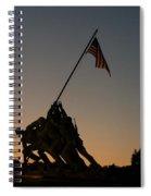 Sunset At Iwo Jima  Spiral Notebook