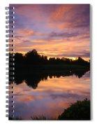 Sunset At Japanese Garden Spiral Notebook