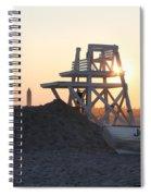 Sunset At Jones Beach Spiral Notebook