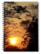 Sunset At Jungle Spiral Notebook