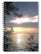 Sunset At Lake Winnipeg Spiral Notebook