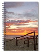 Sunset At Las Glorias Over Sea Of Cortez-sinaloa Spiral Notebook