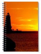 Sunset At Ludington Spiral Notebook