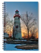Sunset At Marblehead Lighthouse Spiral Notebook